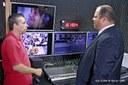 Presidente da Câmara Ver Ribamar visita instalações da TV Câmara (2).JPG