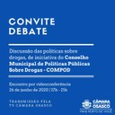 Câmara promove debate virtual sobre prevenção às drogas