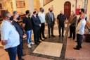 Comissão de Vereadores visita igreja vandalizada na Vila dos Remédios