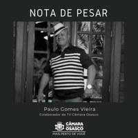 Nota de pesar pelo falecimento de Paulo Gomes Vieira