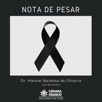 Nota de pesar pelo juiz de direito Dr. Manoel Barbosa de Oliveira
