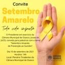 Palestra sobre saúde mental marca setembro amarelo na Câmara de Osasco