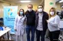 Vereadores prestigiam ação de doação de sangue no Rochdale